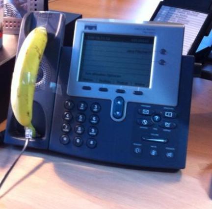 SIP-Telefon mit Bananen-Hörer