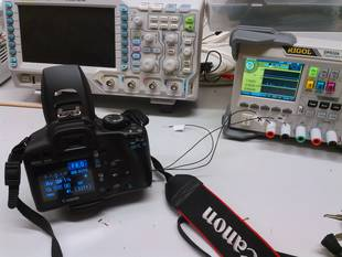 Funktionstest an Labornetzgerät